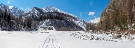 White Irkut river Royalty Free Stock Photography