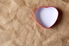 White in iron box shape heart Stock Image