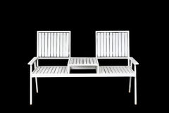 White Iron chair furniture isolated on black Royalty Free Stock Images
