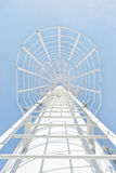White iron stairway to heaven Royalty Free Stock Photos