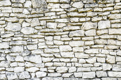White irregular brick wall texture or background Royalty Free Stock Photography