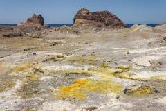 White Island caldera Stock Photo
