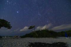 White island, cancun Quintana Roo, night of stars. Water, reflection, ocean, amazing, trip, orange, wild, beach, wildlife, sunset, shape, mexico, caribbean royalty free stock images