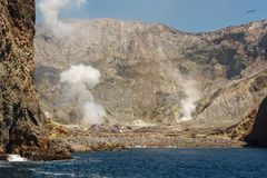 White Island crater Royalty Free Stock Photos