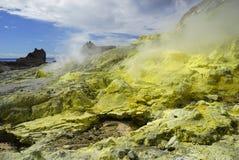 White Island in New Zealand stock photos