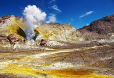 White Island Volcano Stock Photo