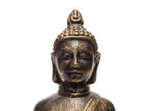 White isolated buddha portrait Royalty Free Stock Photography