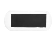 White isolated chalkboard or sign Stock Photos