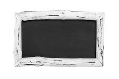 White isolated chalkboard or sign Royalty Free Stock Photography