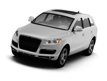 White isolated comfortable SUV Stock Images