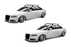 White isolated modern car Royalty Free Stock Images