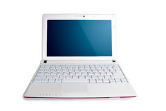 White isolated netbook Royalty Free Stock Photography