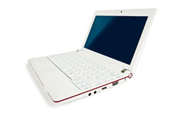 White isolated netbook Stock Photos