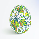 White isolated ornate vector egg with shadow Royalty Free Stock Image
