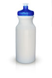 White isolated sports water bottle Stock Images