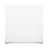 White isolated square grid with shadow Stock Image