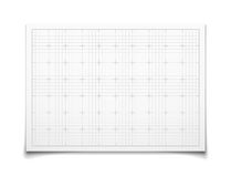 White isolated square grid with shadow Royalty Free Stock Photography
