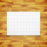 White isolated square grid with shadow isolated on Royalty Free Stock Images