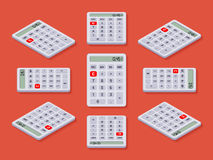 White isometric calculator Royalty Free Stock Photos