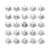 24 white isometric 3d dice set Royalty Free Stock Photography