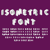 White isometric font alphabet. Vector illustration eps 10. Stock Images