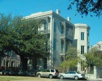 White Italianate style mansion Royalty Free Stock Photo