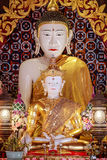 White jade buddha image was established in 2006 in thailand Royalty Free Stock Images