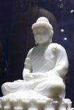 White jade buddha statue Stock Photo