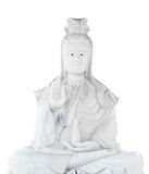 White jade stone carving Kuan Yin statue Stock Images