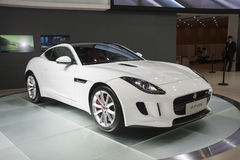 White jaguar ftype car Stock Photos