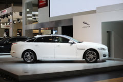 White jaguar xj Royalty Free Stock Photography