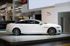 White jaguar xj Royalty Free Stock Photography