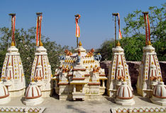 White Jain temple Royalty Free Stock Images