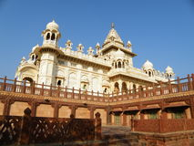 White Jainism Temple in Rajasthan, India Royalty Free Stock Photography
