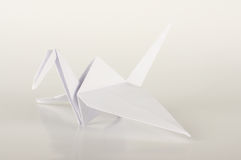 White Japan paper origami crane Stock Photography