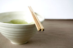 White japanese bowl Stock Images