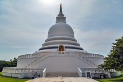 White Japanese Peace Pagoda Stock Photography