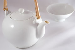 A white japanese tea service Royalty Free Stock Image