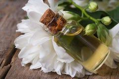 White jasmine flower macro and fragrant oil Stock Image