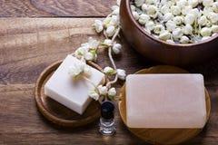 White jasmine flower Royalty Free Stock Images