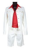 White jeans suit Royalty Free Stock Image
