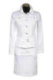 White jeans suit royalty free stock images