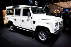 White jeep car Land Rover Stock Image