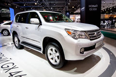 White jeep car Lexus GX 460 Royalty Free Stock Photo