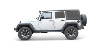 White jeep Royalty Free Stock Images
