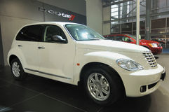 White Jeep pt cruiser Stock Image