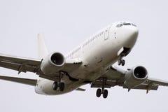 White jet airplane royalty free stock photo