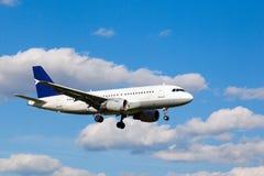 White jet passenger aircraft Stock Photography