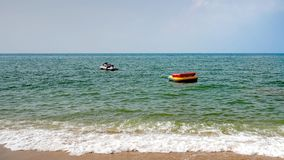 White Jet Ski Floating In The Sea. No people Royalty Free Stock Photo