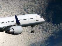 White jet takes off Stock Photo